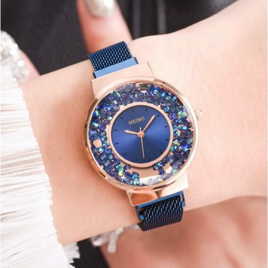 Reloj de cuarzo para mujer con correa de malla REL00084