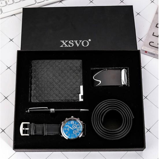 Juego de regalo para hombre reloj, billetera, faja, lapizero REL00095