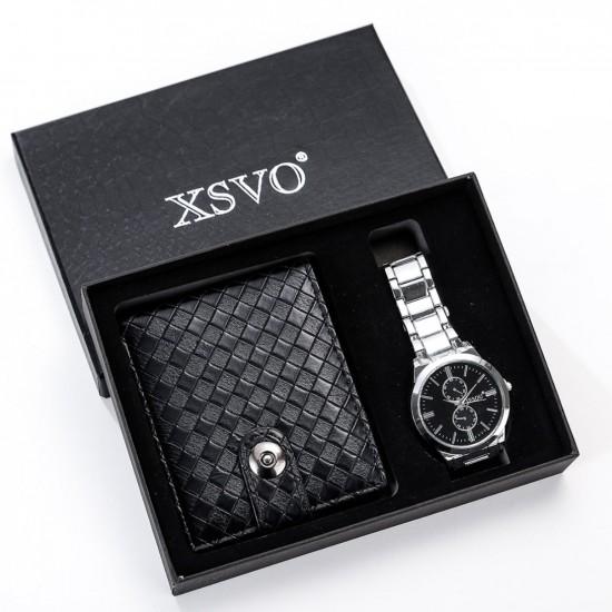 Set de regalo para hombre reloj + billetera REL00032