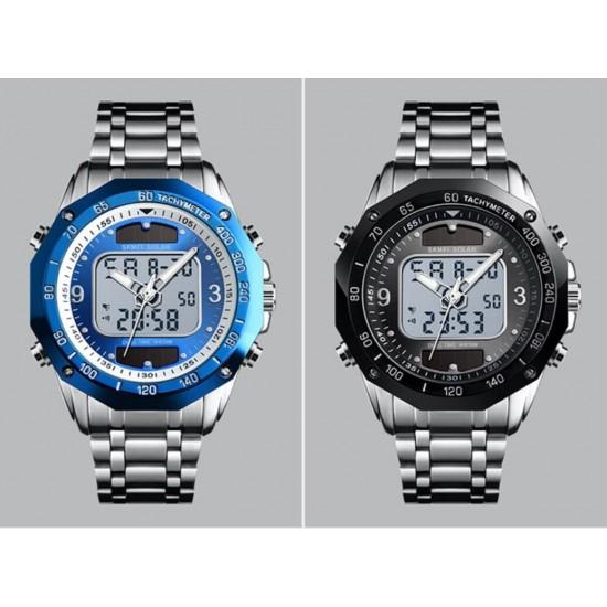 Reloj de pulsera para hombre con energía solar, pantalla doble, digital, analógico, deportivo REL00055