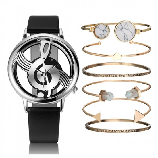Juego de reloj de pulsera de cuarzo para mujer REL00003