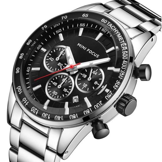 Reloj MINI FOCUS de acero inoxidable, resistente al agua REL00077