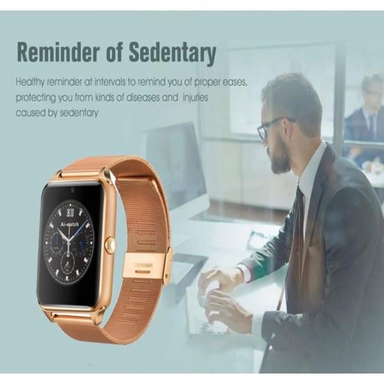 Reloj inteligente con correa de malla Z60 para hombre