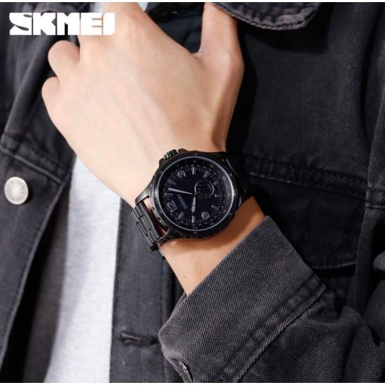 Reloj de acero inoxidable con correa de acero oinoxidable, estilo clásico, casual, resistente al agua REL00146
