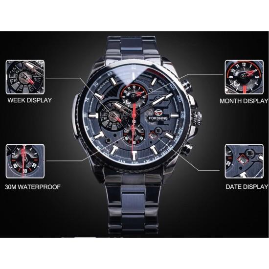 Reloj original marca FORSINING mecánico para hombre con correa de acero inoxidable REL00046