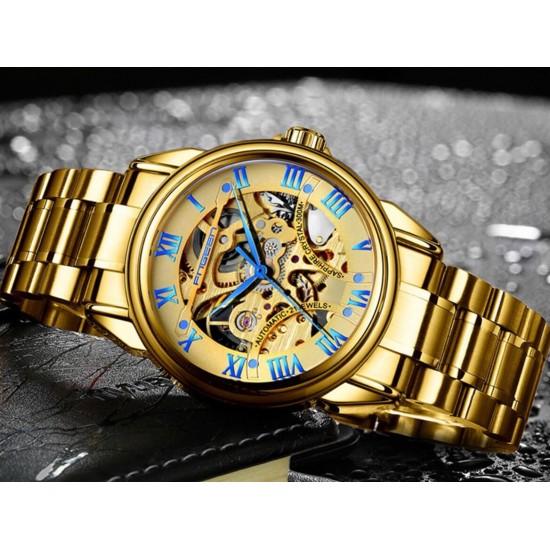 Reloj para hombre mecánico automático de acero inoxidable resistente al agua REL00068