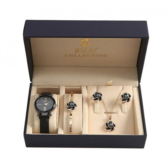 Regalos para mujeres, mamá, esposa, novia, aniversario, cumpleaños, graduación reloj+ pulsera + collar +aretes REL00035