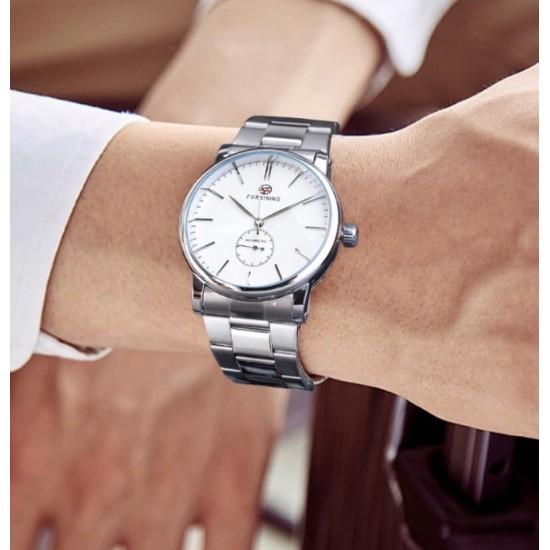 Reloj original marca FORSINING analógico para hombre con correa de acero inoxidable REL00047