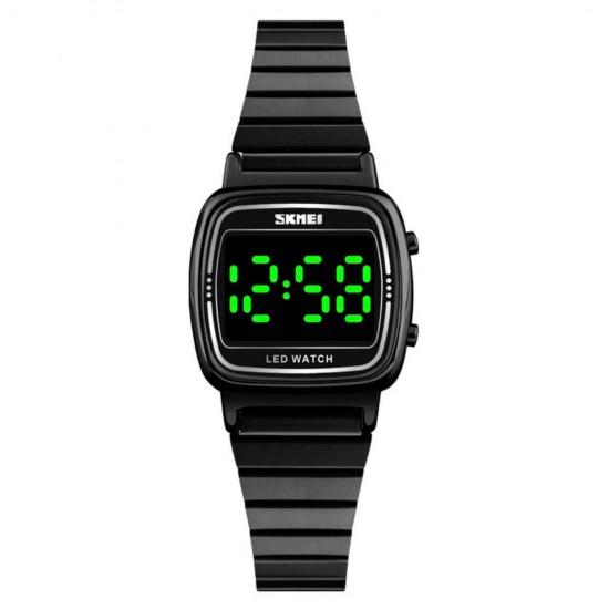 Reloj digital resistente al agua con correa de acero REL00058