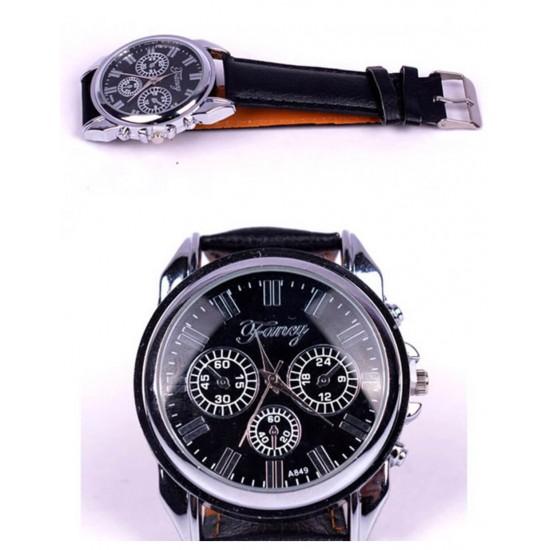 Juego de regalo para hombre reloj, faja de cuero, anteojos, llavero REL00090