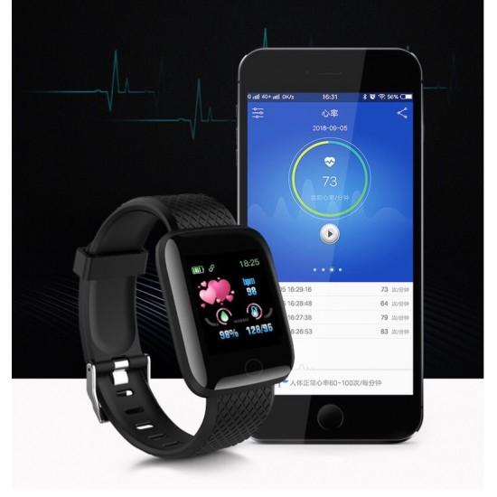 Reloj inteligente 116plus con correa de silicona para hombre y para mujer REL00119