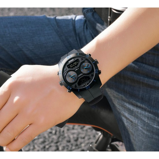 reloj de cuarzo moda casual, faja de hule, contra agua REL00138