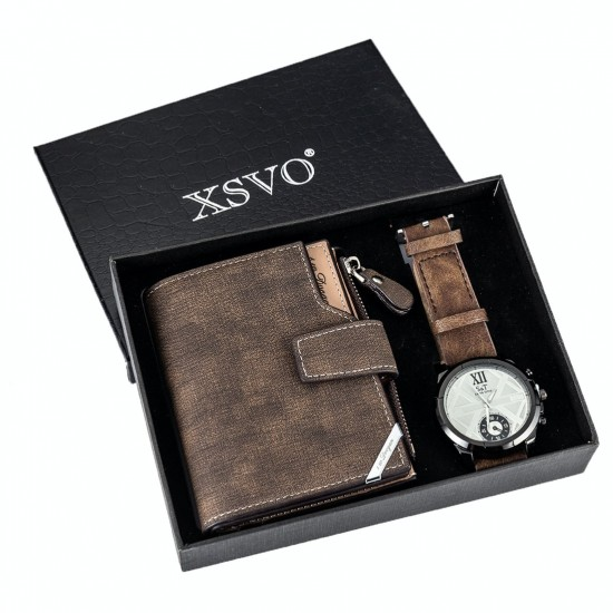 Set de regalo para hombre reloj + billetera REL00006