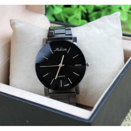 Reloj de pulsera analógico de cuarzo para hombre y mujer, acero inoxidable REL00016