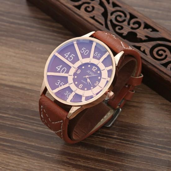 Juego de regalo de cumpleaños para hombre, reloj, cinturón, cartera, boligrafo, pulsera REL00036