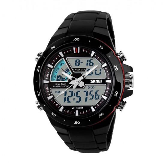 Reloj deportivo a prueba de agua, luz trasera LED, con alarma REL00048