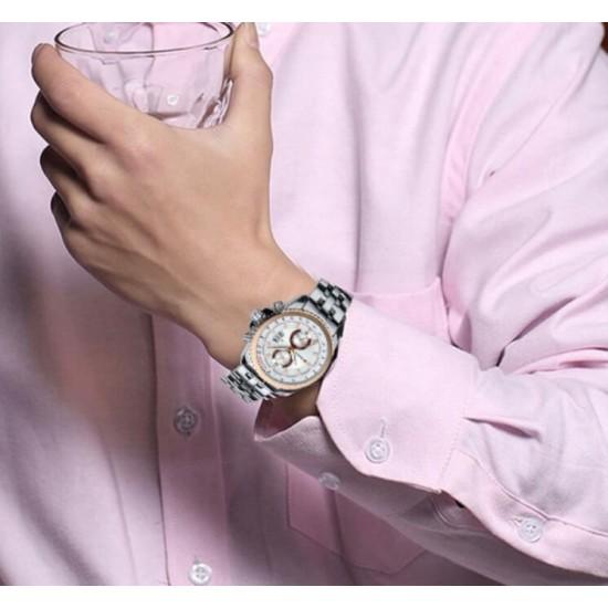 Curren reloj asual de acero inoxidable para hombres, con fecha, Taquímetro REL00059