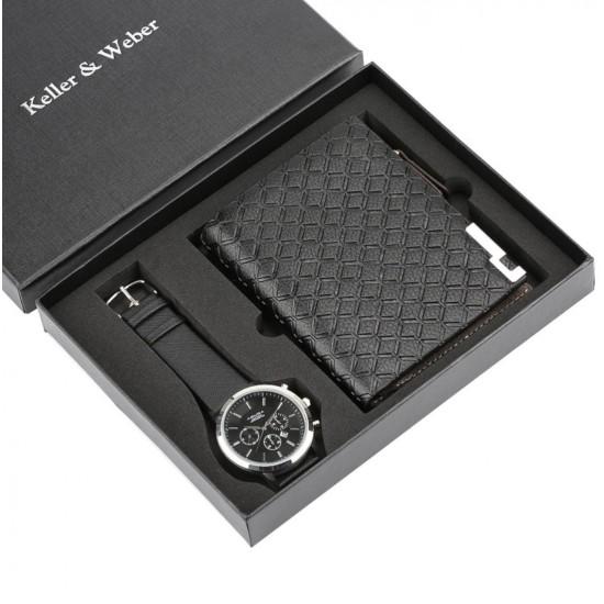 Set de regalo para hombre reloj + billetera REL00007