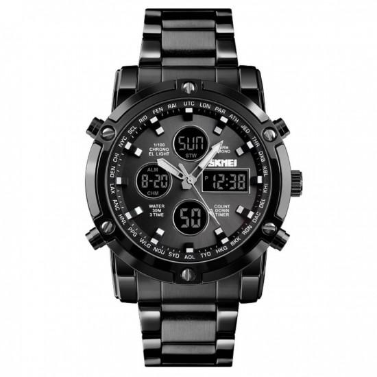 Reloj digital de acero inoxidable para hombre REL00110