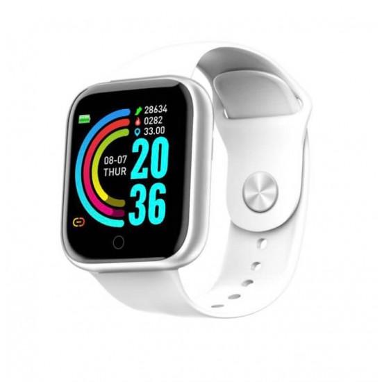 Reloj inteligente Y68 con correa de silicona para hombre y para mujer REL00121