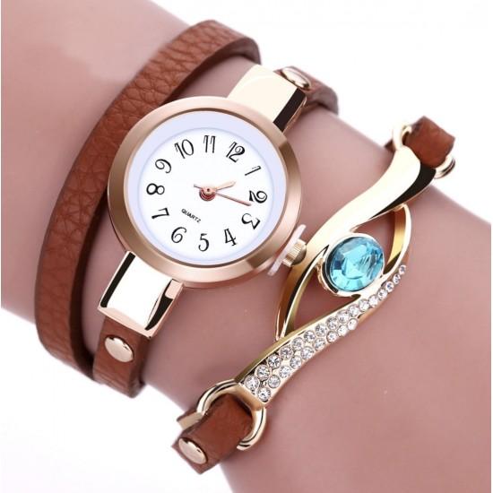 Moda Mujeres Dama pulsera de reloj de cuarzo analógico REL00019