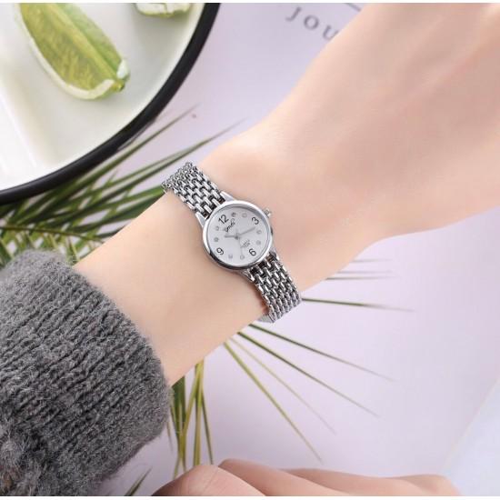 Reloj de dama con diamantes de acero inoxidable REL00041