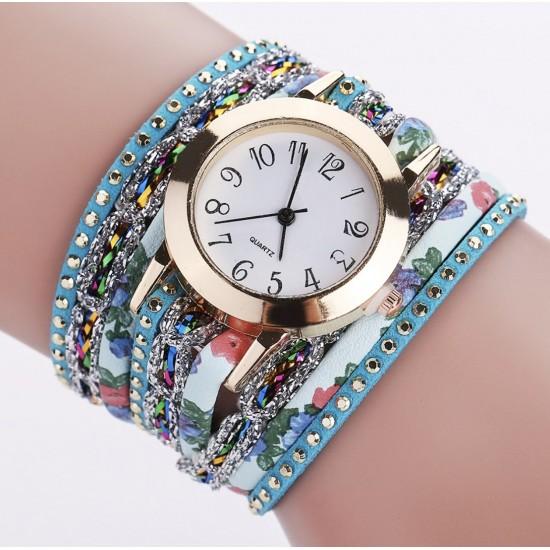 Reloj de pulsera para mujer de cuarzo con diseño floral popular REL00020