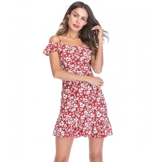 Mini vestido de cóctel para mujer con hombros descubiertos VES00008A