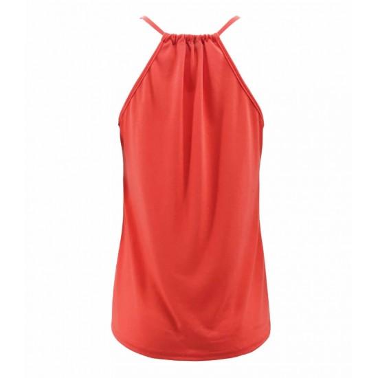 Camiseta sin mangas para mujer, cuello en V CAM00004A