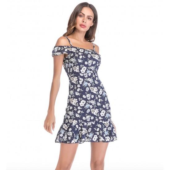Mini vestido de cóctel para mujer con hombros descubiertos VES00008B