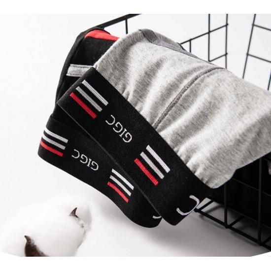 Calzoncillos GIGC tipo bóxer para hombre, de algodón, pierna larga, negro BOX00011A