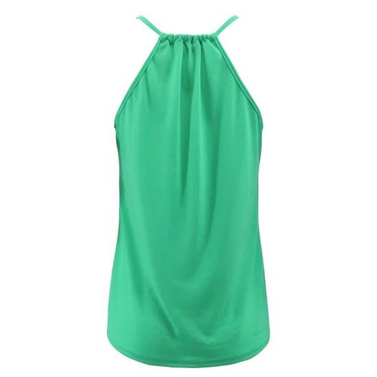 Camiseta sin mangas para mujer, cuello en V CAM00004B