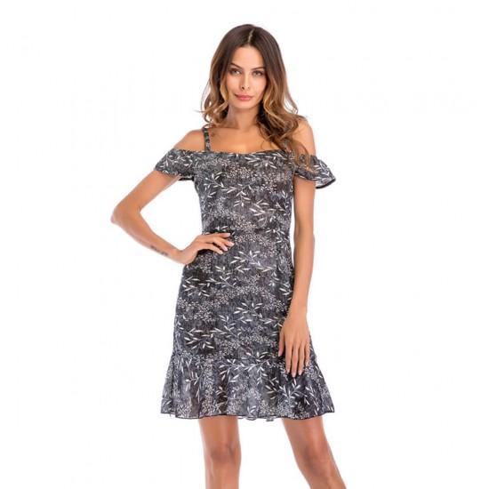 Mini vestido de cóctel para mujer con hombros descubiertos VES00008C