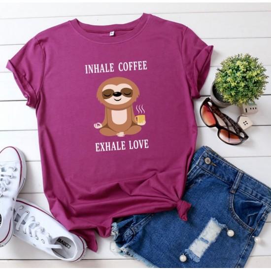 Camiseta para mujer divertida con diseño de café CAM00015C