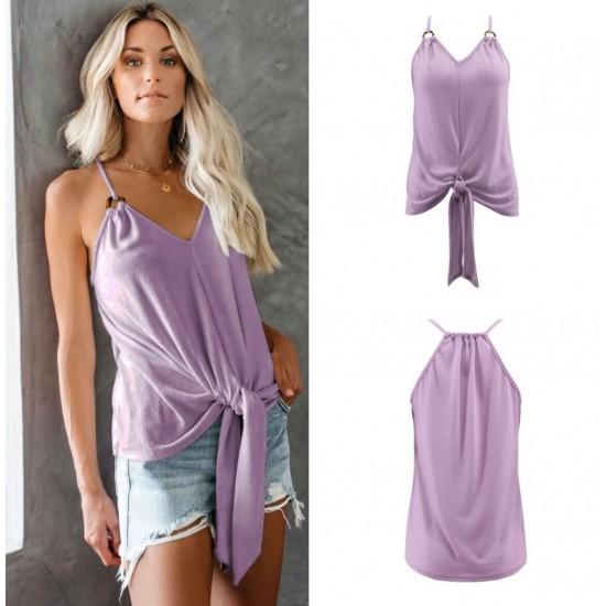 Camiseta sin mangas para mujer, cuello en V CAM00004C