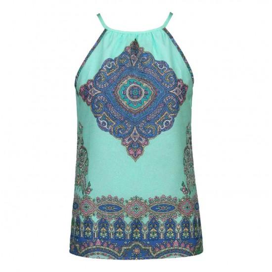 Blusa de verano para mujer, sin mangas, diseño retro CAM00006B