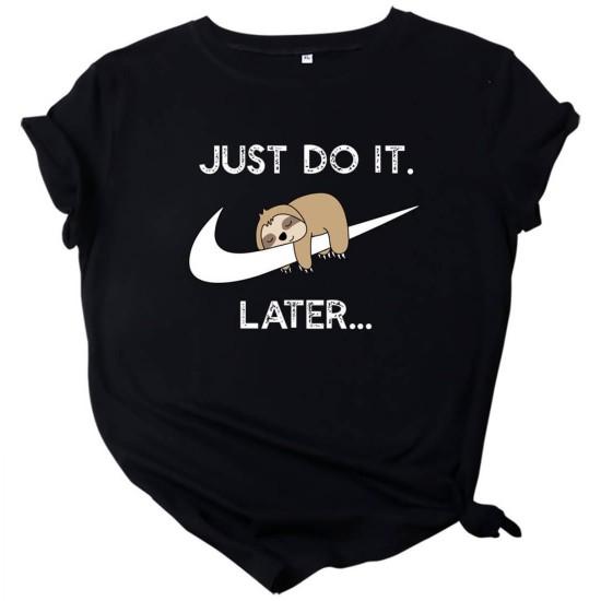 Camiseta para mujer divertida con diseño de perezoso CAM00016A