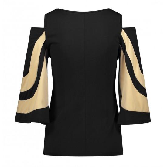 Blusa de manga 3/4 con hombros descubiertos para mujer CAM00005A