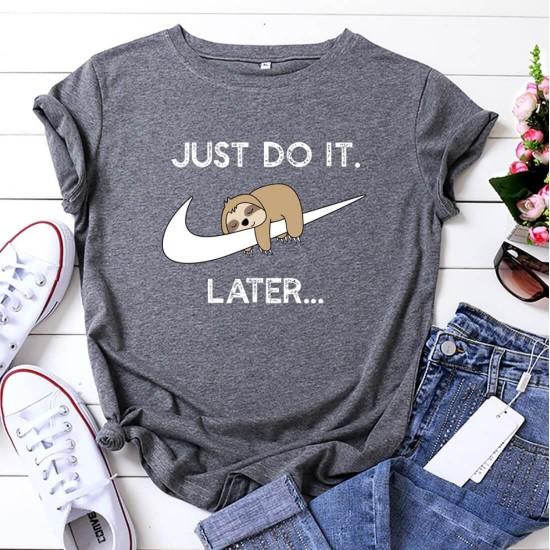 Camiseta para mujer divertida con diseño de perezoso CAM00016B