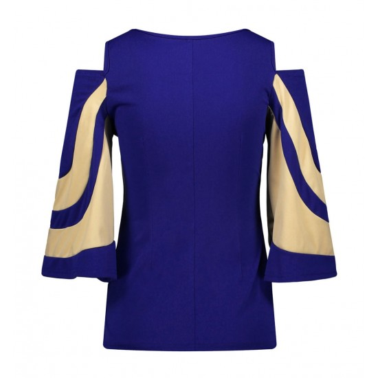 Blusa de manga 3/4 con hombros descubiertos para mujer CAM00005B