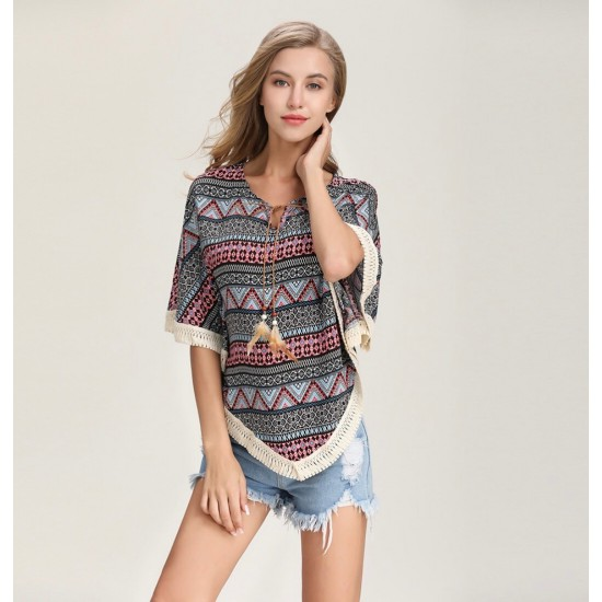 Blusa de verano con mangas cortas CAM00011