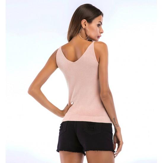Camiseta sin mangas para mujer con cuello en V CAM00013C