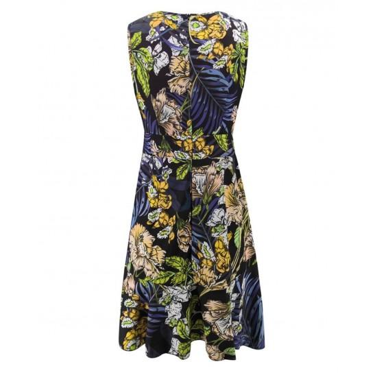 Vestido para mujer sin mangas color verde VES00001A