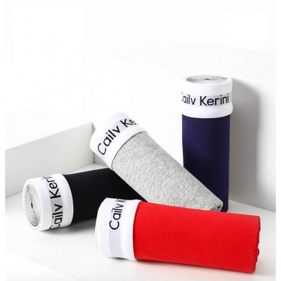 Boxers para hombre, juego de 3 piezas negro, azul, gris BOX00003A