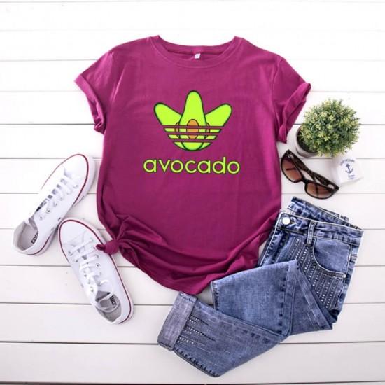 Camiseta para mujer divertida con diseño de aguacate CAM00014B