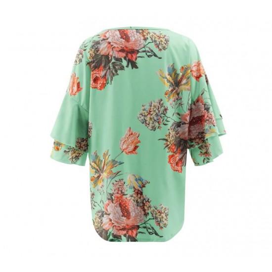 Blusa de cuello redondo para mujer, estilo casual CAM00003B