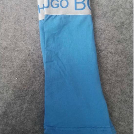 Calzoncillos BOSS, bóxer para hombre, de algodón, pierna larga, celeste BOX00012D
