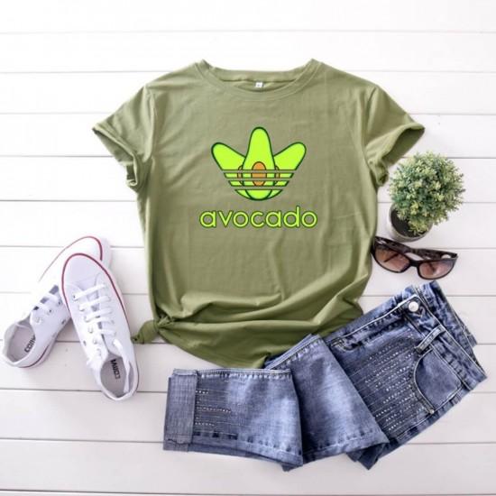 Camiseta para mujer divertida con diseño de aguacate CAM00014C