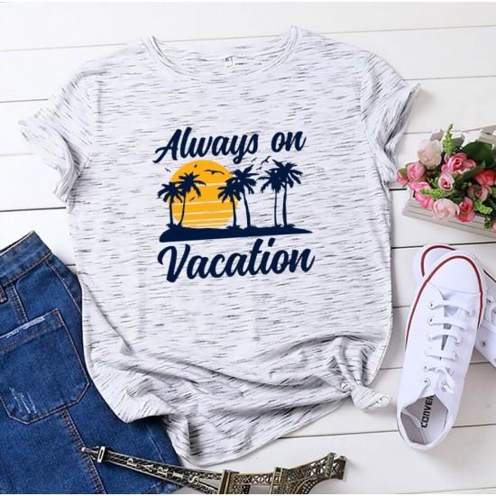 Camiseta para mujer divertida con diseño de vacaciones CAM00018A