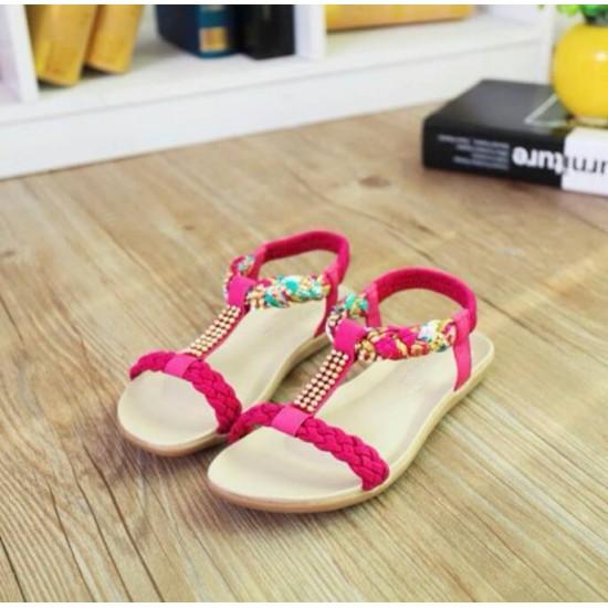 Sandalias para mujer, suela plana, cuero sintetico ZAP00036A